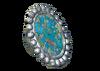 Silver Mosaic Inca Earring