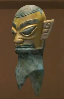 Gold-Leaf Statue Head