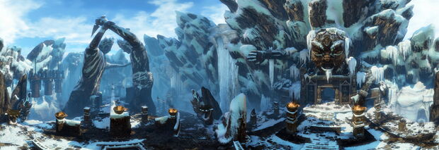 The Ice Cave panorama by AlgoRhythmic