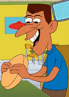 Nameless Man Eating a Sandwich