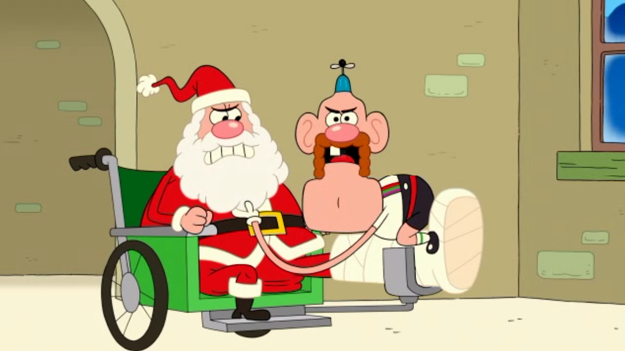 uncle grandpa and santa claus in ug christmas special pt i 02png - Grandpa For Christmas