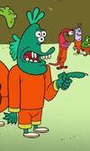 Teal Alien Inmate