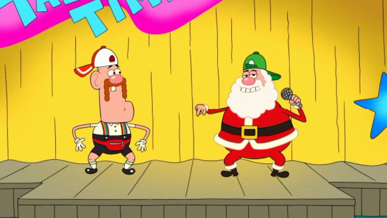uncle grandpa and santa claus in ug christmas special pt i 05png - Grandpa For Christmas
