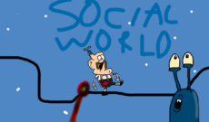 Uncle Grandpa Social World Title Card