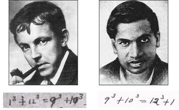 Hardy Ramanujan-portretten