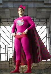 Superman hello kitty pink