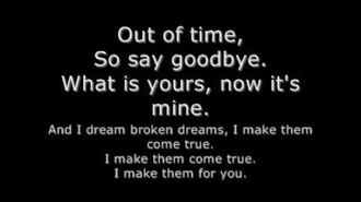Broken Dreams- Shaman's Harvest (Lyrics)