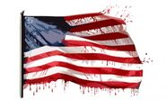 Bloody-american-flag