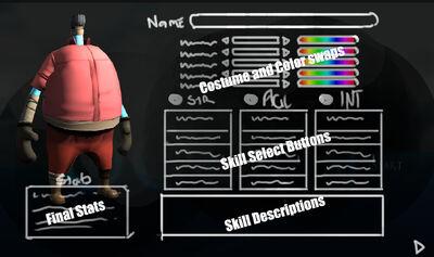 Character Customization Sketch