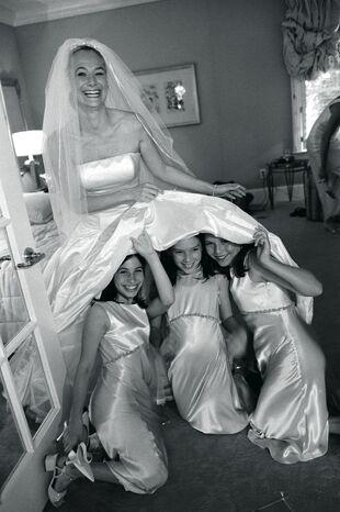 Girls Under Wedding Dress