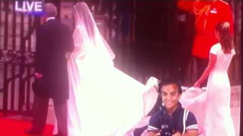 Royal Wedding paparazzi under Kate's dress