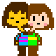 Freaktale frisk and chara sprite