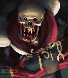 Horrortale papyrus by zinrius dajoomz-pre