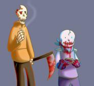 Horrorswap papyrus and sans new by alterelitedcube-daj3mz0