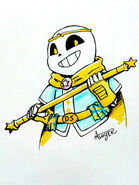 Dream sans with weapon