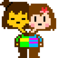 Freaktale frisk and chara , pasifist sprite