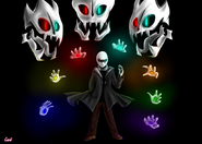 Gaster from glitchtale