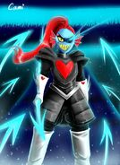 Glitchtale undyne the undying