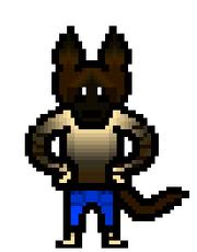 Brown hyena sprite