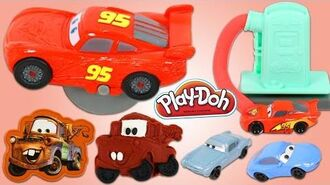 Disney Pixar Cars PLAY DOH Tools and Stamps Playset with Lightning McQueen!