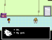 Alphys first meeting
