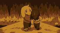 Asriel and human