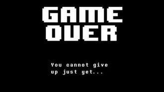 UNDERTALE Game Over Screen