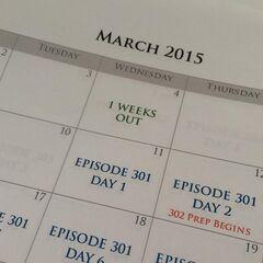 Calendario de grabaciones