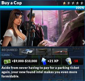 Job buy a cop