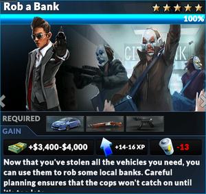 Job rob a bank