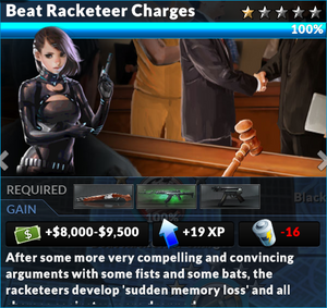 Job beat racketeer charges