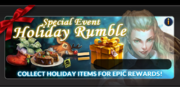Event holiday rumble banner