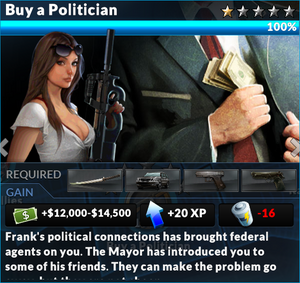 Job buy a politician