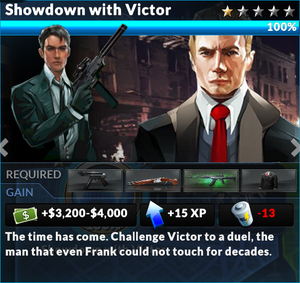 Job showdown with victor