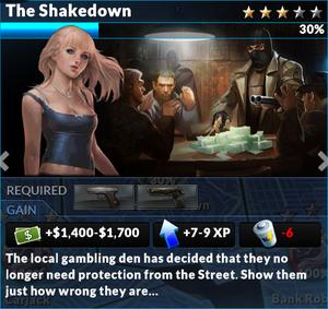 Job the shakedown