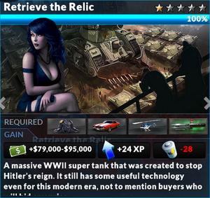 Job retrieve the relic