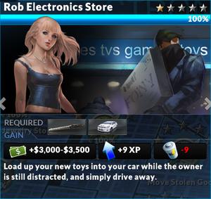 Job rob electronics store