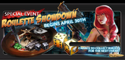 Event roulette showdown banner