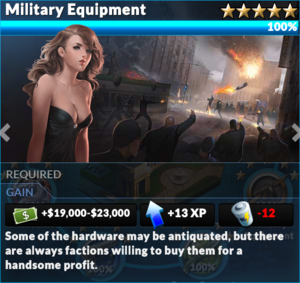 Job military equipment