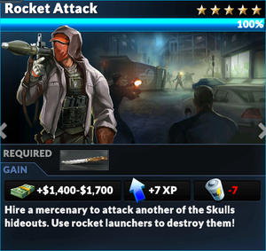 Job rocket attack