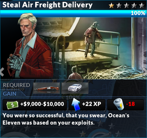 Job steal air freight delivery