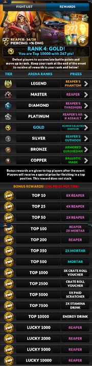 Event battle royale rewards