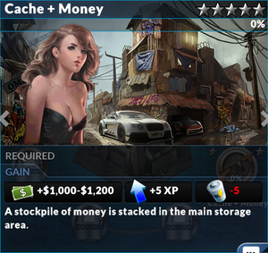 Job cache and money