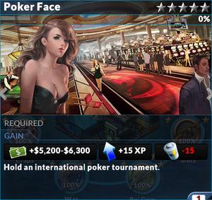 Job poker face
