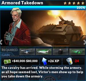 Job armored takedown