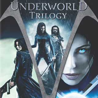 DVD case of the first three <i>Underworld</i> installments.