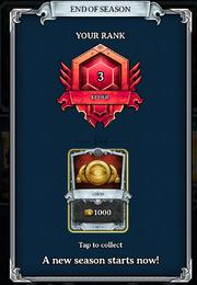 End of Season 2 Rank Elder -3 Relentless 1000 gold 30 nov 2016