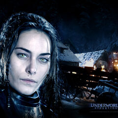 Promotional poster for <i>Underworld: Evolution</i> featuring Amelia