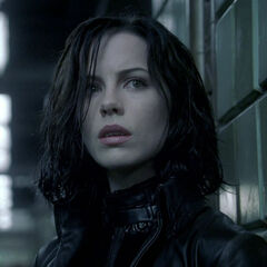 Selene, before the battle in the subway station.