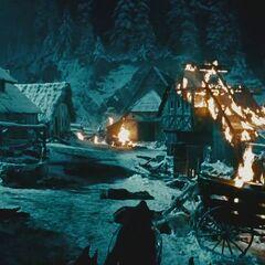 The mountain village
